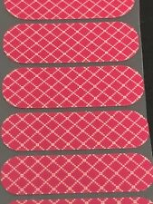 Jamberry Half Sheet - Red Stitched Box Pattern NAS