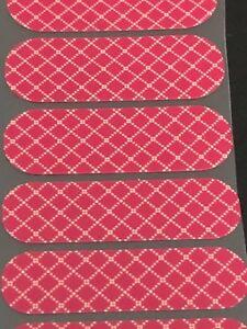 Jamberry Half Sheet - Red Stitched Box Pattern NAS