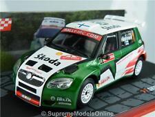 SKODA FABIA S2000 RALLY CAR HANNINEN 1/43RD SCALE WHITE/GREEN EXAMPLE T3412Z(=)