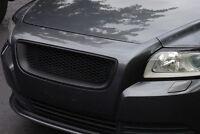 MESH Sport Grill Grille MATTE BLACK ABS for VOLVO S40 V50 2008 - 2012 FACELIFT
