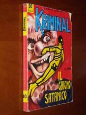 KRIMINAL n. 30 - IL GHIGNO SATANICO - BUONO/OTTIMO - dic. 1965