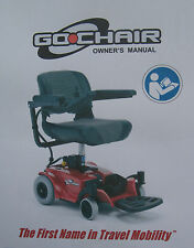 Pride Mobility GO CHAIR GO-CHAIR Scooter User Owner Instruction Manual Guide