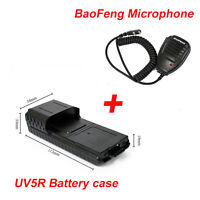 UV-5R 6XAA Extended 2 way radio Battery Case Shell for BaoFeng with one Microphe