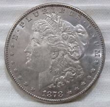 1878-S Morgan Silver Dollar Lustrous AU About Uncirculated Marks On Cheek