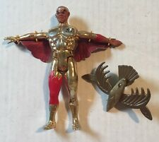 Vintage 1986 Kenner Silverhawks Hotwing Action Figure W/ Gyro