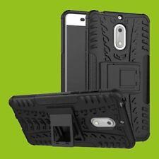 Para Nokia 3.1 5.2 Pulgadas Carcasa Híbrida 2 Piezas Exterior Negro