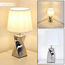 Tisch Leuchte Wohn Schlaf Zimmer Nacht Licht Lese Lampe Glas Strahler Würfel