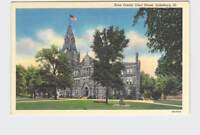 ANTIQUE POSTCARD ILLINOIS GALESBURG KNOX COUNTY COURT HOUSE EXTERIOR STREET VIEW