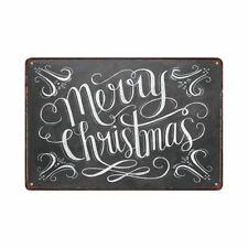 Metal Tin Sign merry christmas Decor Bar Pub Home Vintage Retro Poster