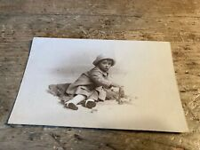 More details for real photo postcard. child with building blocks.   ref680