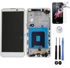 ECRAN LCD + VITRE TACTILE SUR CHASSIS BLOC COMPLET POUR LG X SCREEN K500N BLANC