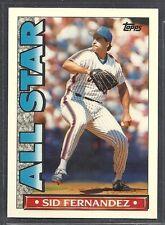 1990 Topps Baseball 'TV' Glossy All Star - #61 - Sid Fernandez - New York Mets