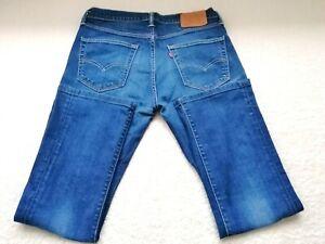 Levi Strauss Jeans 527 W32 L32 Stretch Lewis Blau Hose Reißverschluss Nieten