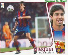 OLEGUER ESPANA FC.BARCELONA CROMO STICKER LIGA ESTE 2005 PANINI