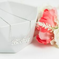 PERSONALISED NAME NECKLACE STERLING SILVER - CHOOSE ANY NAME - CARRIE STYLE NAME