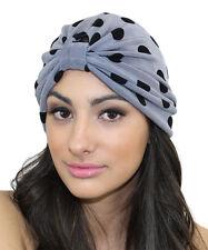 Kristin Perry Slinky Polka Dot Turban Knit Hat Headwrap