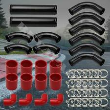 12PCS ALUMINUM INTERCOOLER PIPING KIT + RED COUPLERS  ACCORD PRELUDE H22 F22 H23