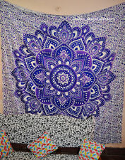 Indian mandala Queen Wall Hanging Tapestries Bedspread Throw Ethnic Decor 6