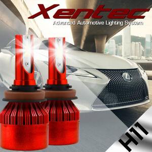 2x PHILIP 388W 38800LM H11 H8 H9 LED Headlight Kit 6500K White Bulbs High Power