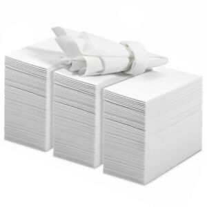 200 Linen Feel Guest Towels Disposable Cloth Like Hand Napkins Paper Hand Towels