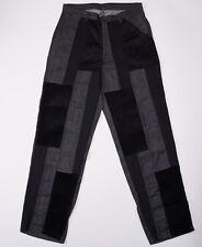 NWT $695 COMME DES GARCONS Black Multi-Material Panel Detail Denim Jeans 32 x 32