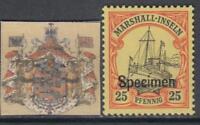 GERMANY MARSHALL 25 Pf - SPECIMEN  MNH**