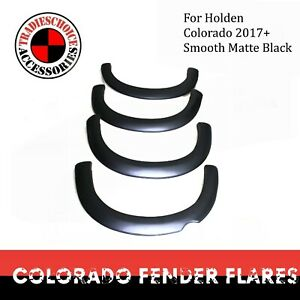 Fender Flares Guard Arch Cover Matte Black to suit Holden Colorado 2017+