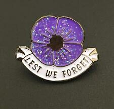 Sale!! Limited Purple Poppy Pin Badge Brooch Animals Peace Veteran Remembrance