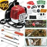 52cc 6in1 Multi powerful Gasoline Hedge/Grass Trimmer Strimmer  Brush Cutter USA