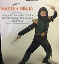 NEW Youth Master Ninja Halloween Costume Size Medium 8-10
