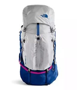 NWT The North Face Women's Fovero 70 Outdoor 70-liter Backpack M/L Blue/Grey