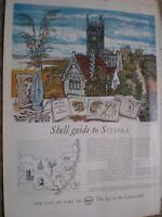 Shell Guide to Suffolk John O'Connor art advert 1960 ref AV
