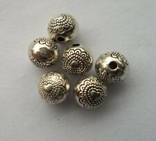 100 pcs Tibetan silver flowers Charm Spacer beads  6mm