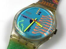 1990 Swatch Wristwatch - Hacker's Reward - GK122,Excellent,Works,Retro,Swiss