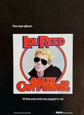 LOU REED vintage 1974 POSTER ADVERT SALLY CAN'T DANCE