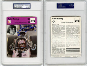 Shirley Muldowney SIGNED 1979 Sportscaster Card Drag Racing PSA/DNA AUTOGRAPHED