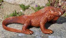 toller 20cm Holz LEGUAN Figur Echse Reptil Tier Handarbeit Drache Bali Leguan20