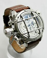Invicta 17336 Swiss Made Russian Diver 52mm Stainless Steel , Leather Band