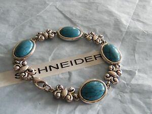 Premier Designs GRANADA turquoise tennis bracelet  RV $42 FREE 1st class ship