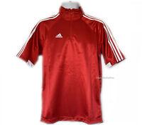 New adidas Mens 1/4 Zip Basketball Polo 3-Stripe T-Shirt Performance Top Sports