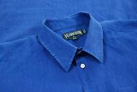 Vilebrequin Mens 100% Linen Long Sleeve Button Up Shirt Blue Size XXL