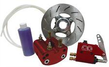 "Red Light Weight Hydraulic Brake Disc Kit 1-1/4"" Axle Go Kart Cart Drift Trike"