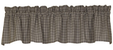 """AUSTIN Unlined Window Valance - Country, Farmhouse - 72""""Wx14""""L - Gray, Ivory"""