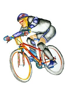 """John D Wibberley Cycle Art """"Racer"""" Giclee Canvas Print, in various sizes"""