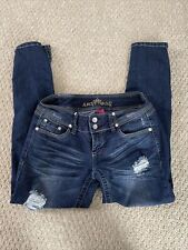 almost famous jeans size 9 Skinny Destroyed
