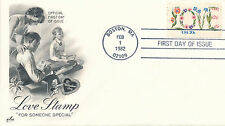 Love Stamp cover first day of issue February 1, 1982
