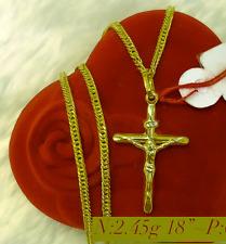 Latest 18k Solid Gold, Religious, Luxury Men Necklace , Chain & Pendant