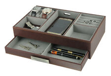 Leatherette Valet Tray Organizer for men,s gift for Keys, Phone, Jewelry, Watch