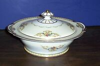 """NORITAKE COVERED VEGETABLE DISH /SERVING DISH 10.25"""" NEVER USED FREE US SHIPPING"""