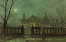 John Atkinson Grimshaw A Moonlit Night Painting